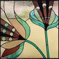 Stained glass created by Kathleen Schalk at Art Glass Chicago